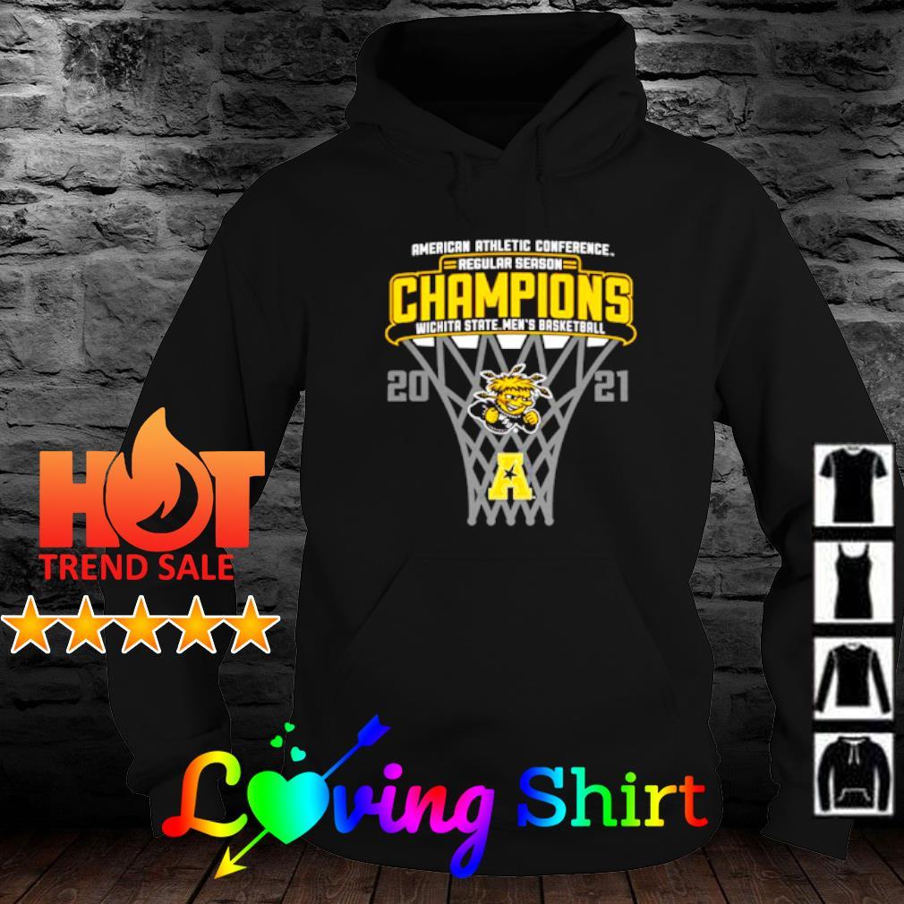 American athletic conference regular season Champions Wichita State men's basketball 2021 s hoodie