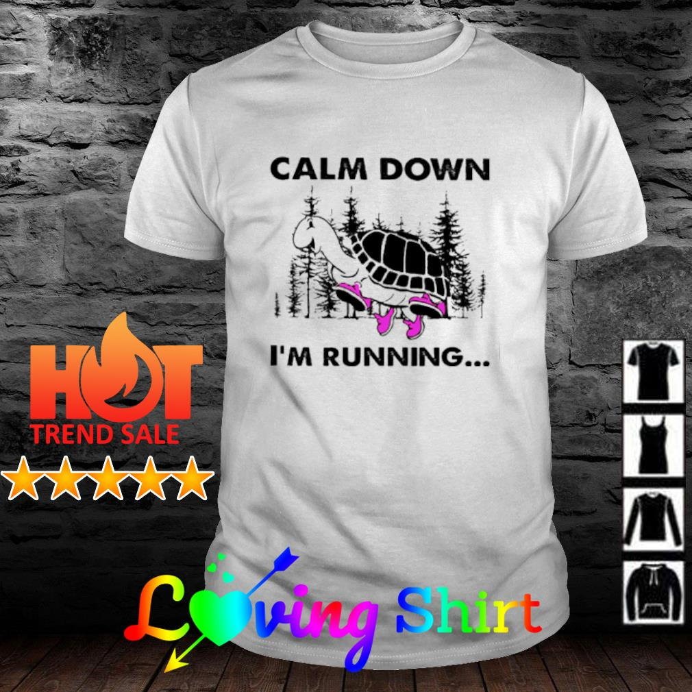 Turtle Calm down I'm running shirt