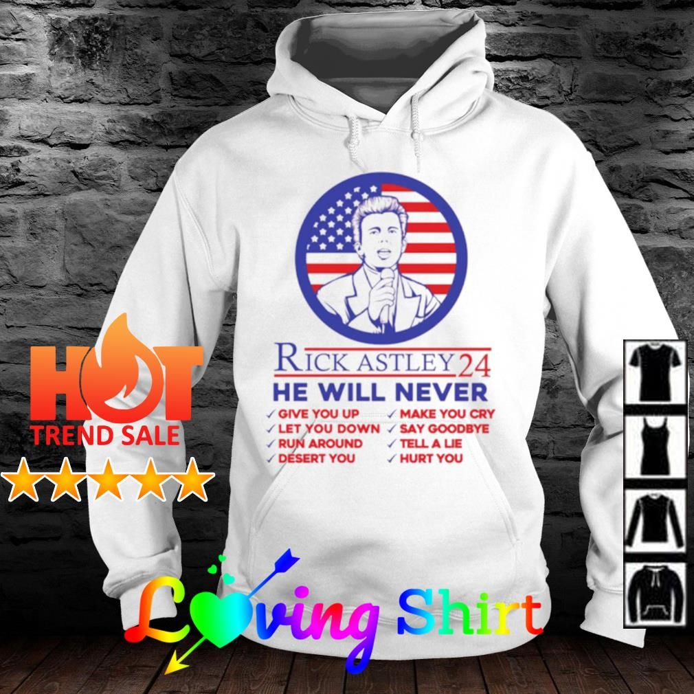 Rick Astley 24 he will never give you up s hoodie