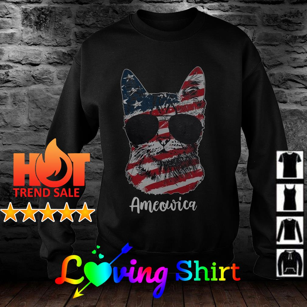 Ameowica 4Th Of July Party Meow Cat American Flag shirt