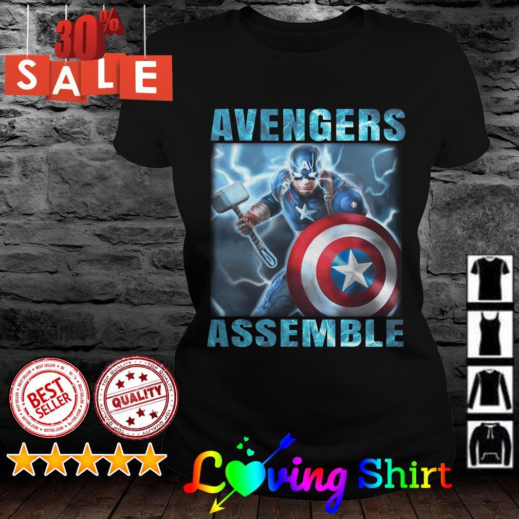 Avengers assemble Captain America shirt
