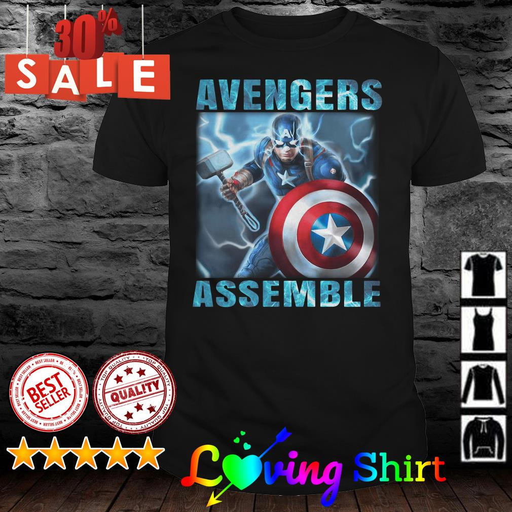 Avengers assemble Captain America shirt