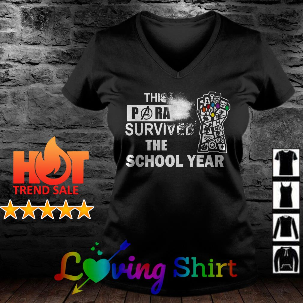 Avengers Endgame This Para survived the school year shirt