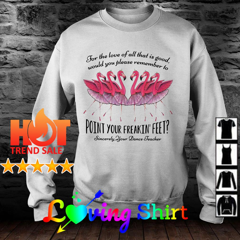 Flamingo for the love of all that is good would you please remember to point your freakin' feet shirt