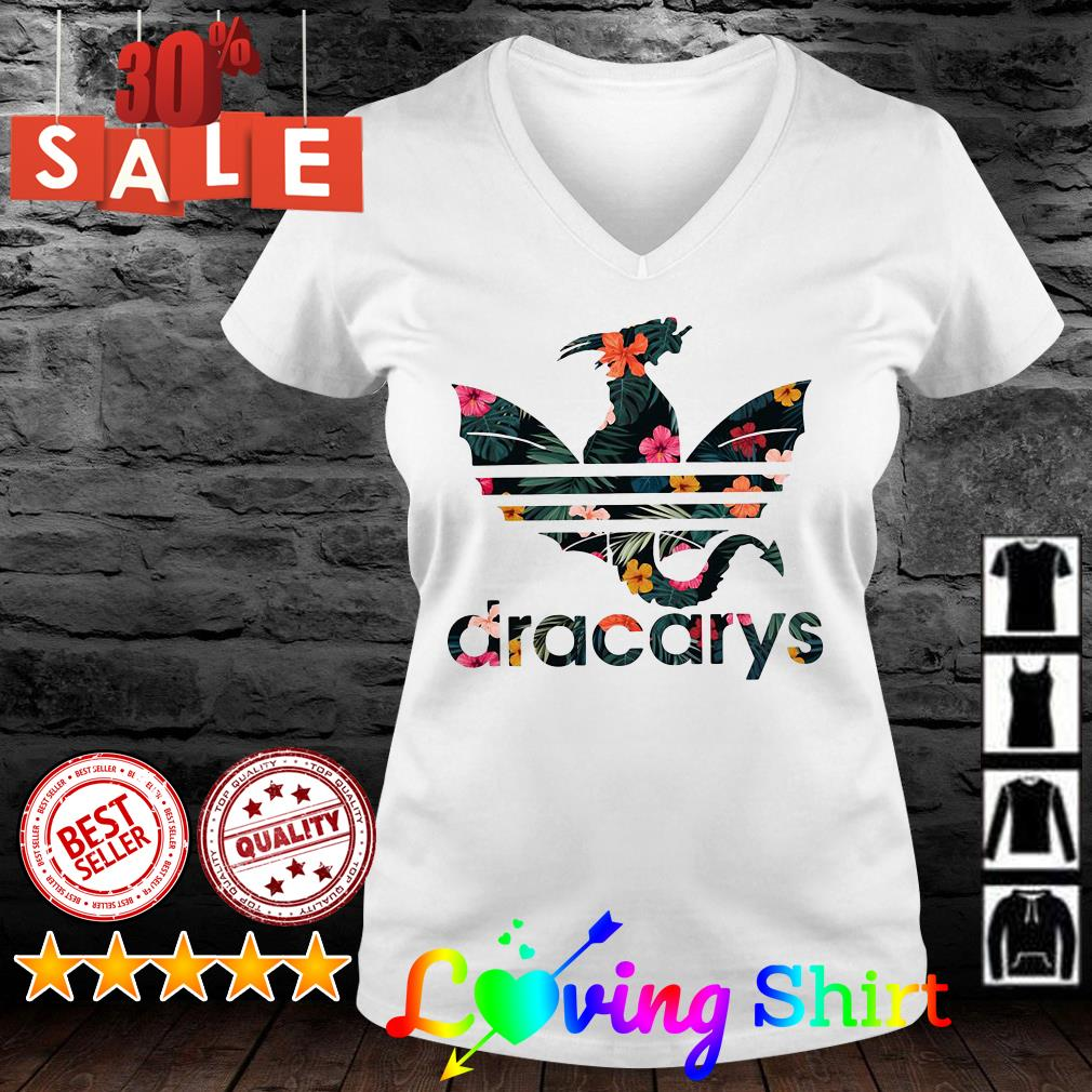Flower Dracarys Adidas Dragon Game Of Thrones shirt