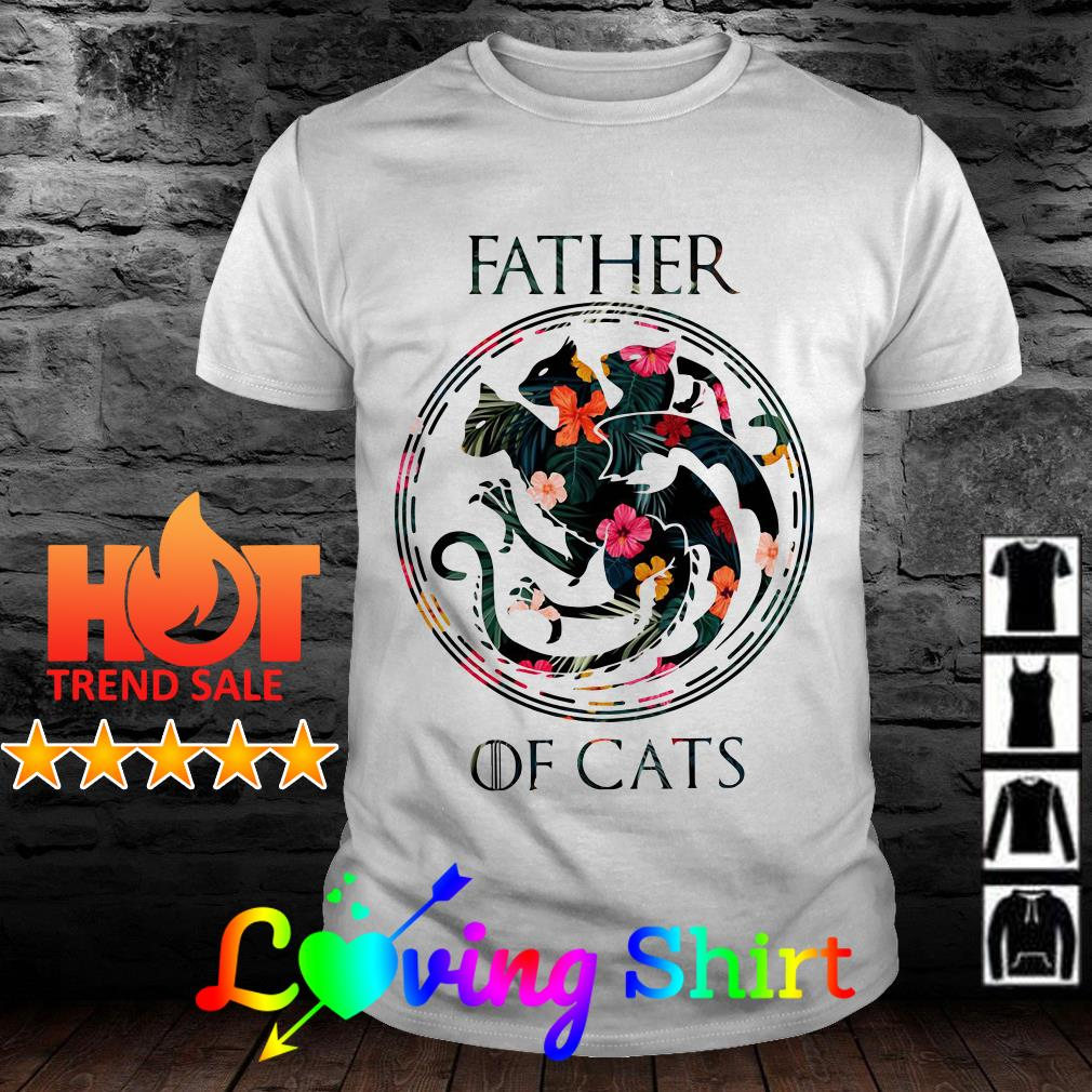 Game of Thrones Father of cats flower shirt