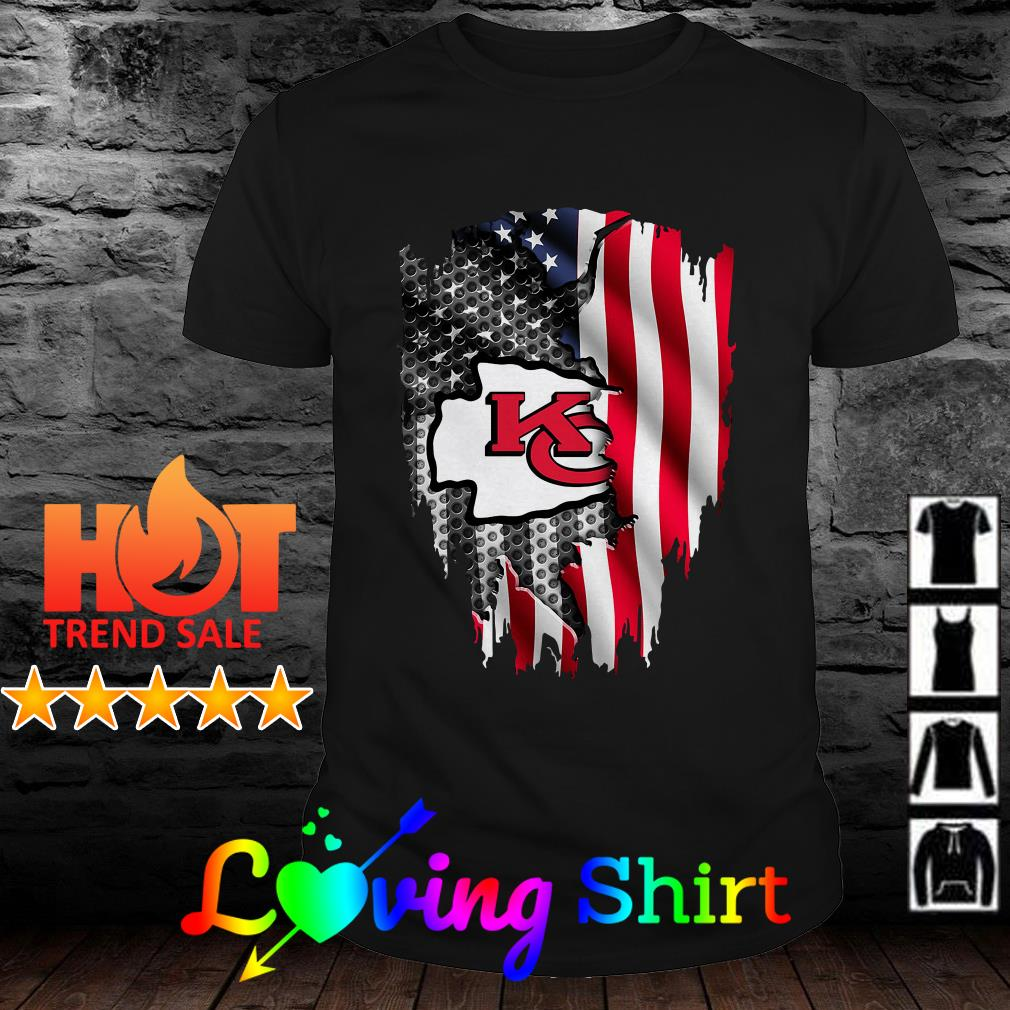 Independence Day 4th of July Kansas City Chiefs Head America Flag shirt