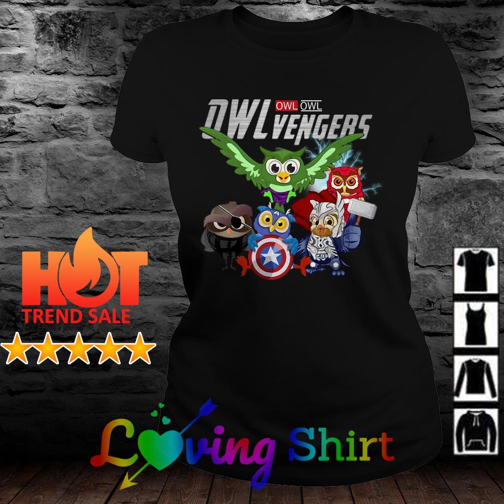 Marvel Owlvengers Avengers Endgame Owl shirt