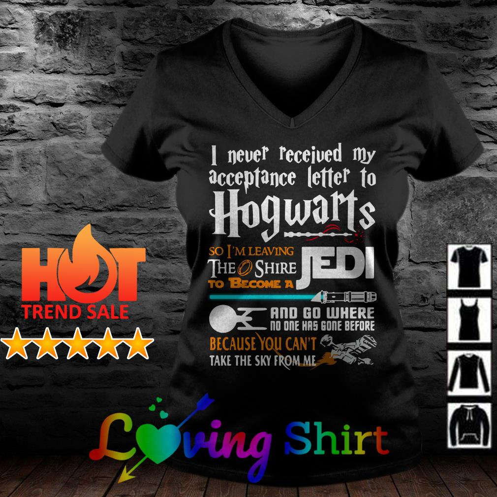 I never received my acceptance letter to Hogwarts shirt