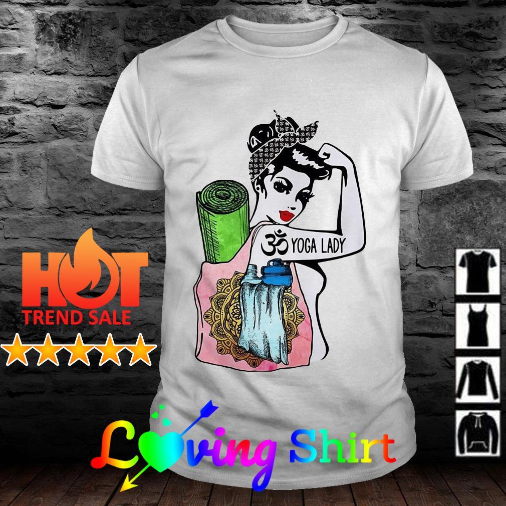 Strong yoga lady shirt