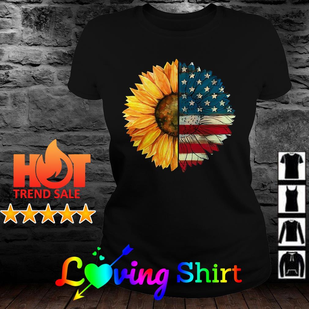 Sunflower American flag shirt