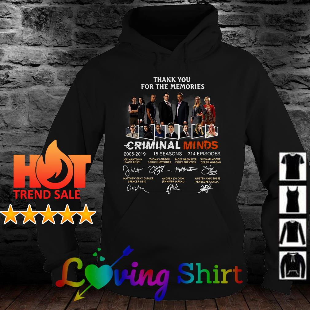 Thank you for the memories Criminal Minds signature shirt