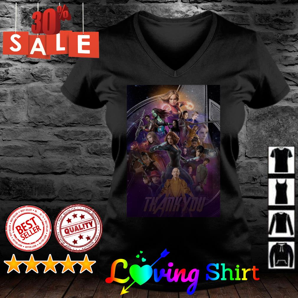 The Women of Marvel thank you shirt