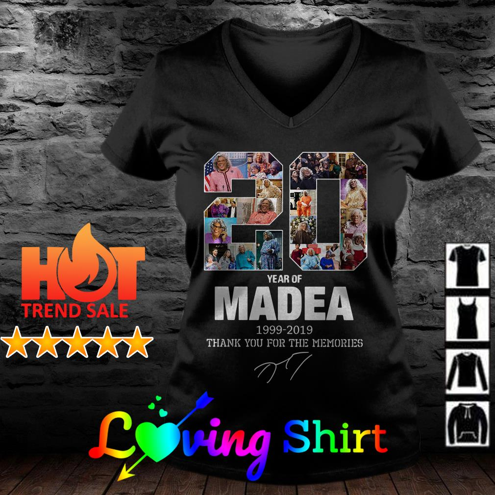 20 year of Madea 1999 2019 thank you for the memories shirt