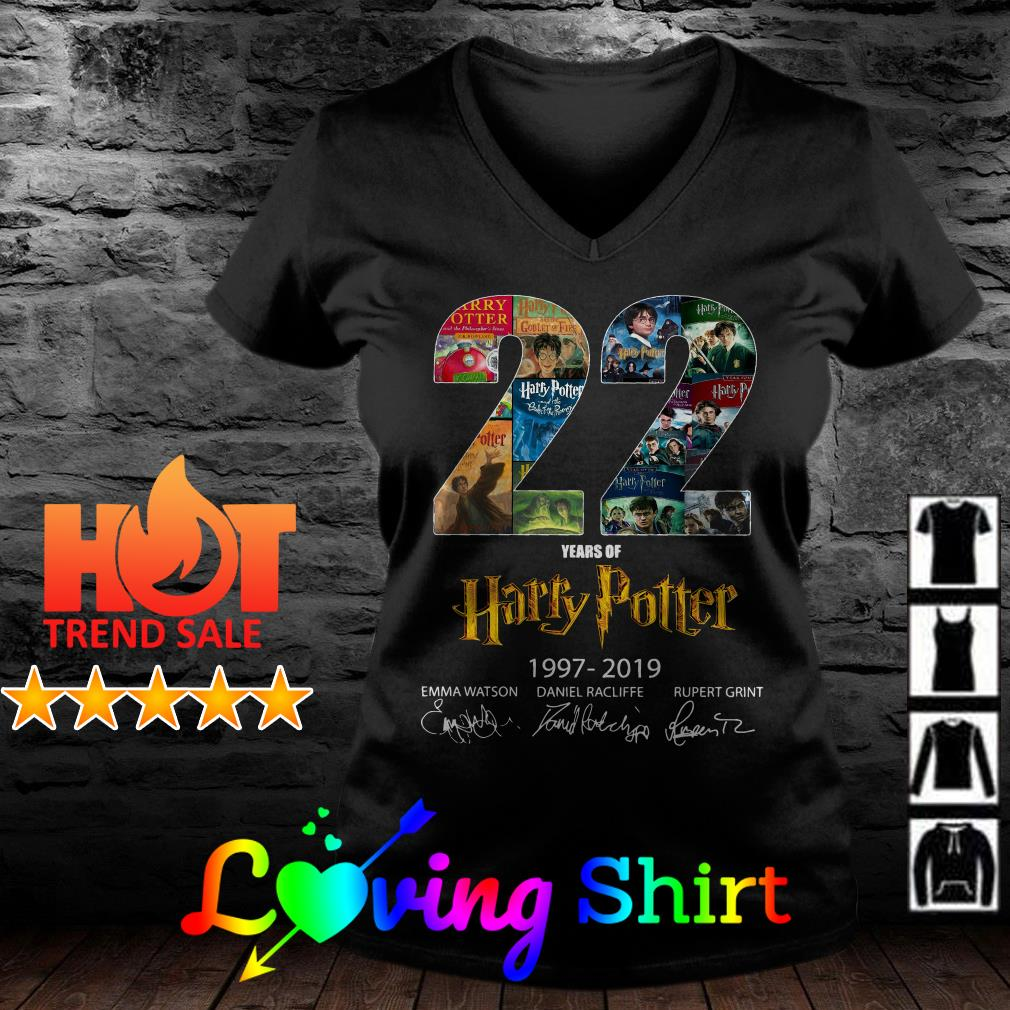 22 year of Harry Potter 1997-2019 signature shirt