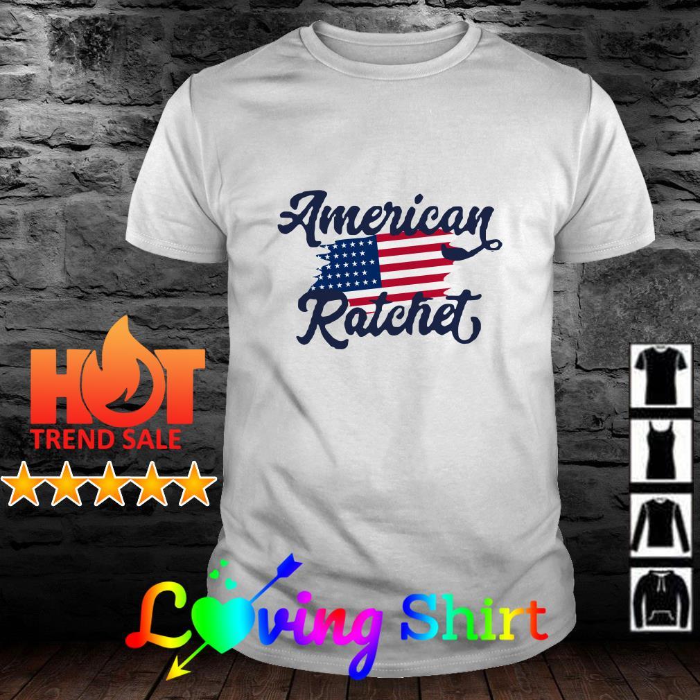 American Ratchet American flag shirt