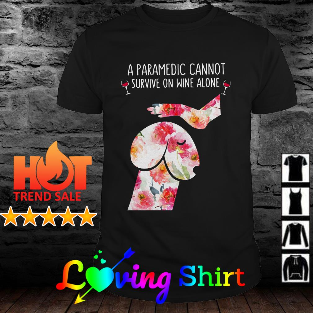 Flower Dickhead Dog Noma Bar youth A paramedic cannot survive on wine alone shirt