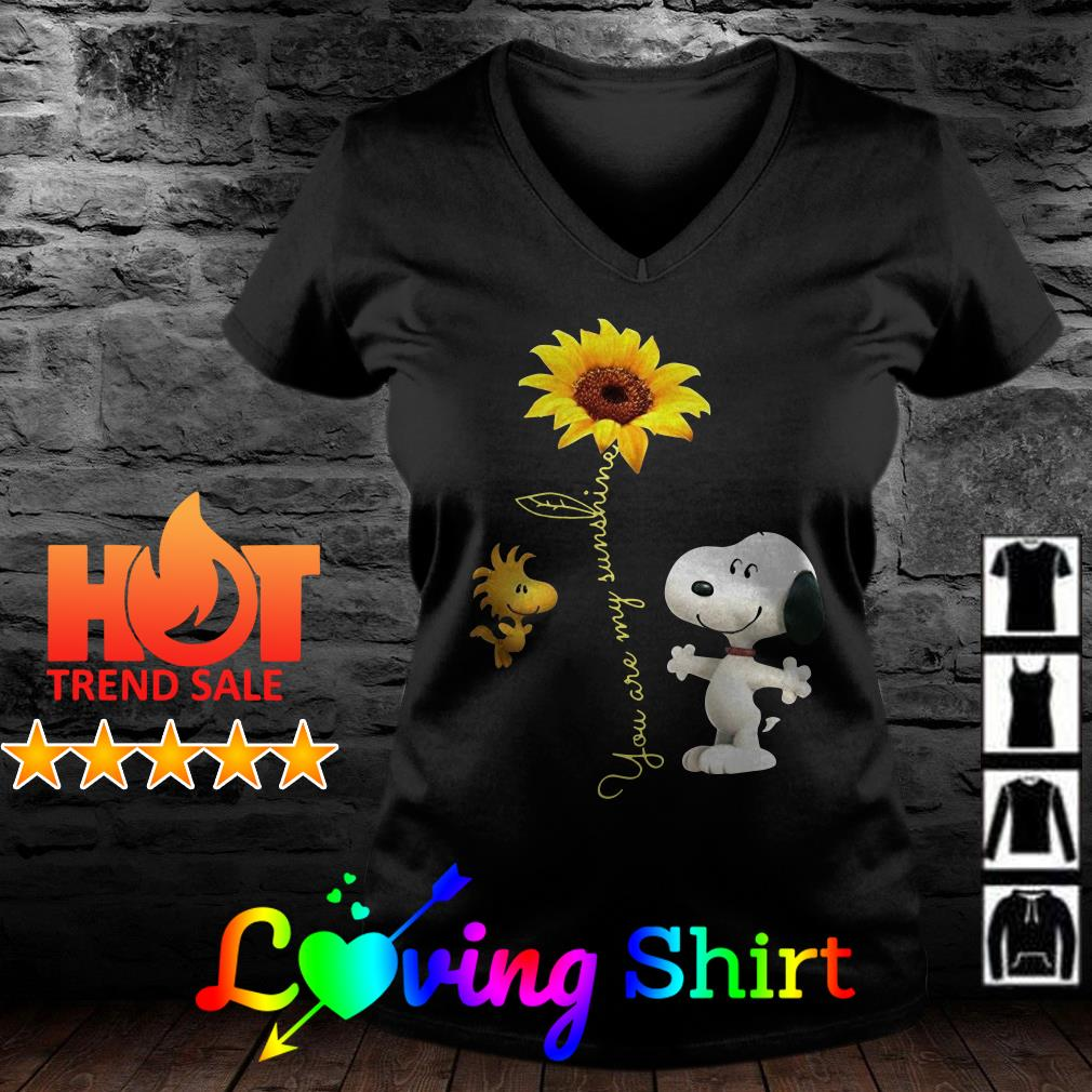 Snoopy and Easter you are my sunshine sunflower shirt