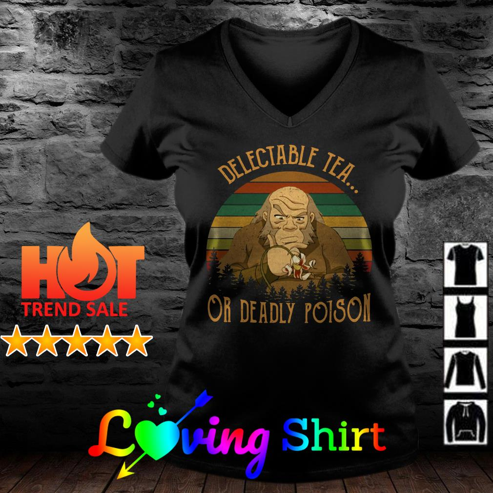 Uncle Iroh delectable tea or deadly poison sunset vintage shirt