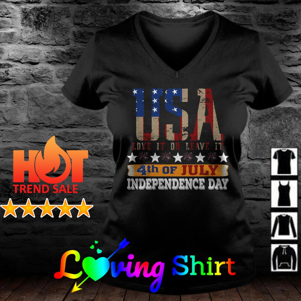 USA love it or leave it 4th of July independence day shirt