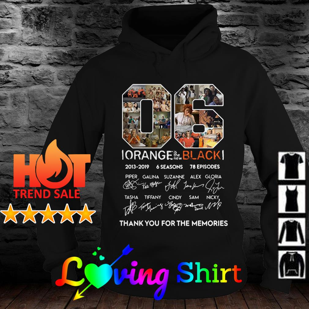 06 Orange is the new black 2013 2019 thank you for the memories shirt