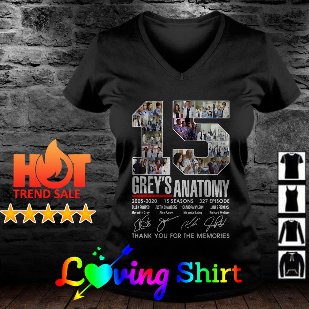 15 Grey's Anatomy thank you for the memories signature shirt