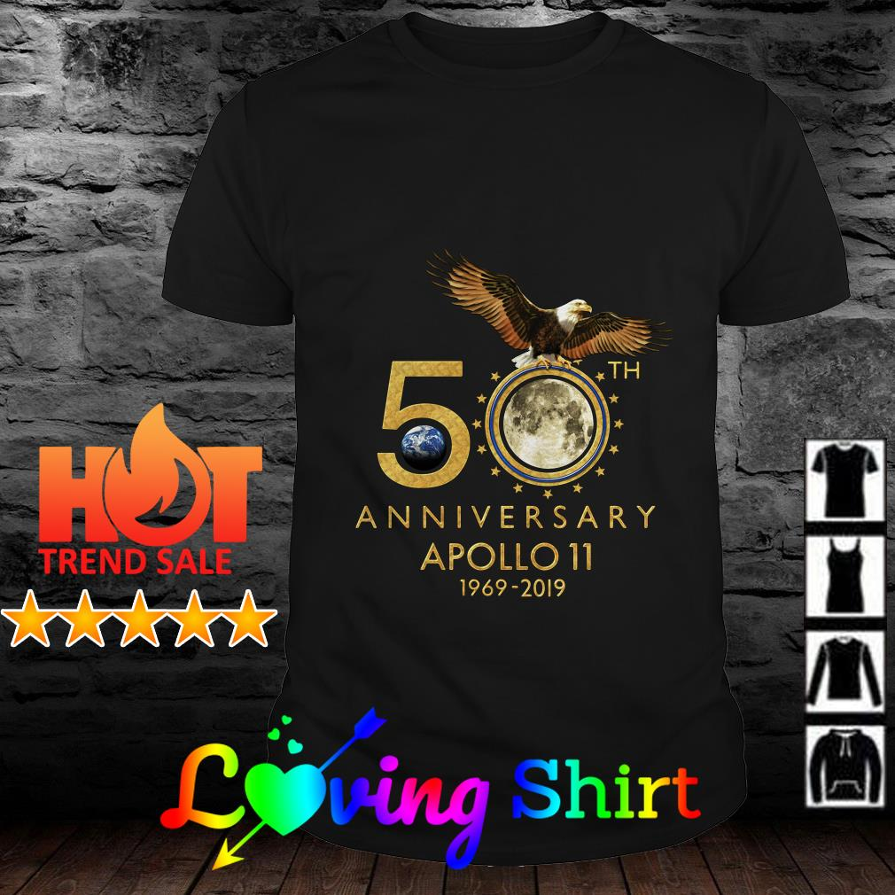 50th Anniversary Apollo 11 moon landing 1969-2019 shirt