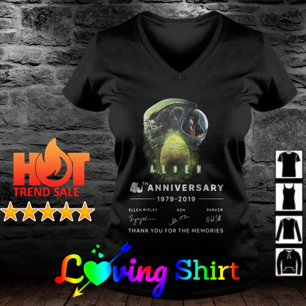 Alien 40th anniversary thank you for the memories signature shirt