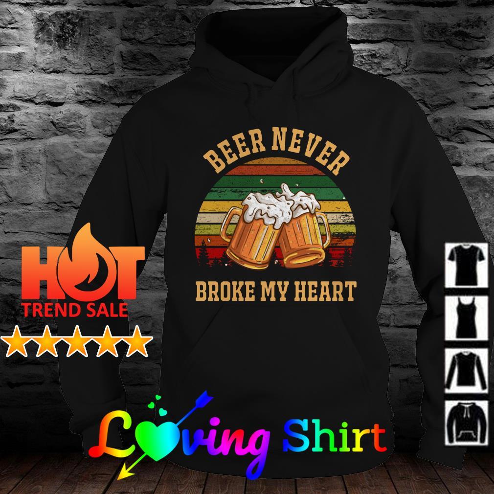 Beer never broke my heart vintage shirt