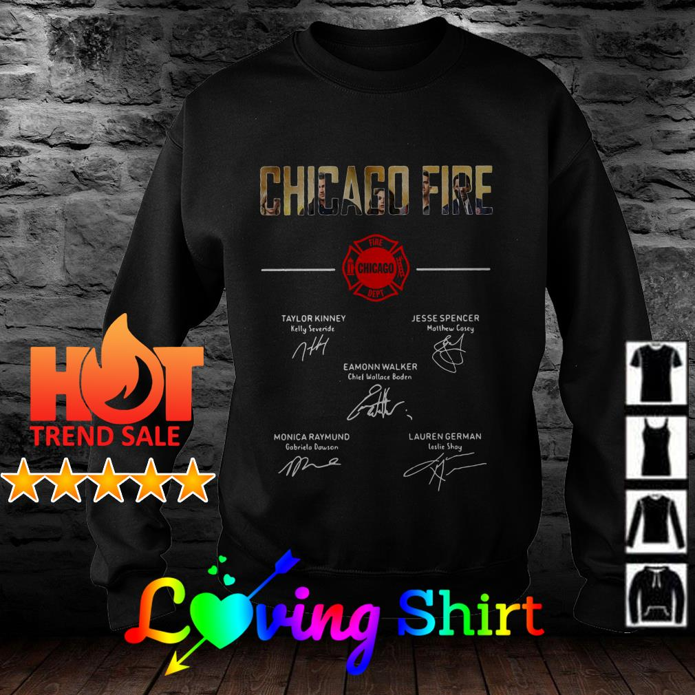 Chicago fire signature shirt
