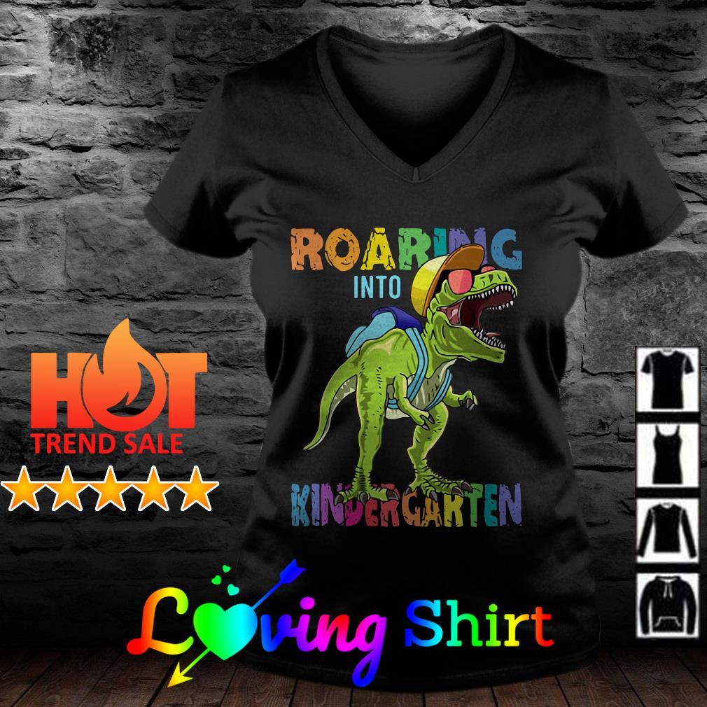 Dinosaurs roaring into kindergarten shirt