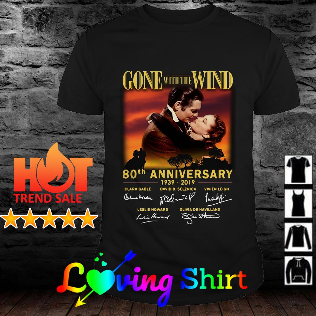 Gone With The Wind 80th anniversary signature shirt