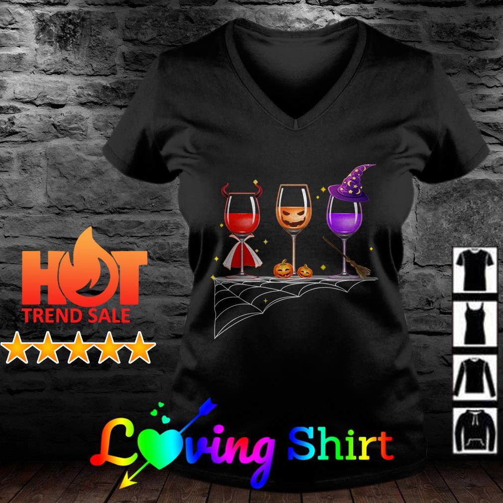 Halloween glasses of wine shirt
