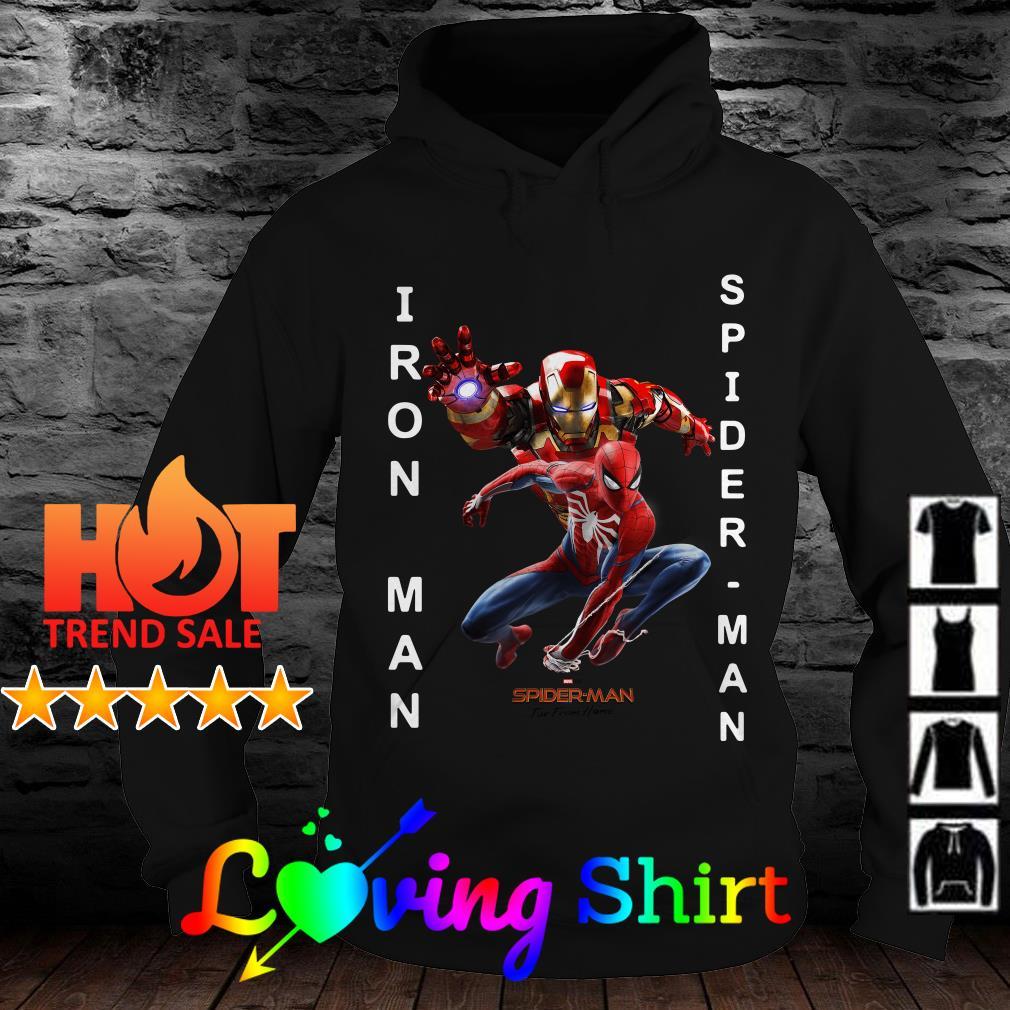 Iron Man Spider Man far from home shirt