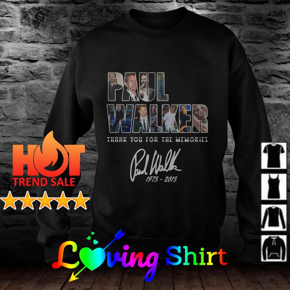 Paul Walker Thank you for the memories signature shirt