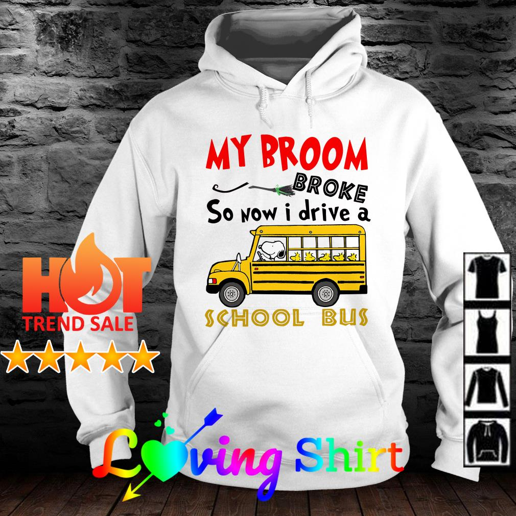 Snoopy My broom broke so now I drive a school bus shirt