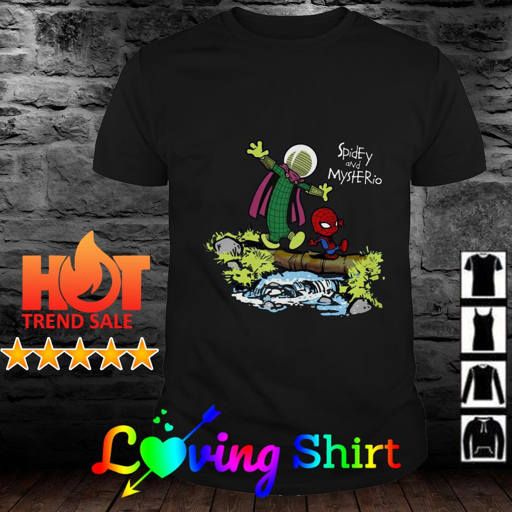 Spider man and Mysterio Calvin and Hobbes shirt