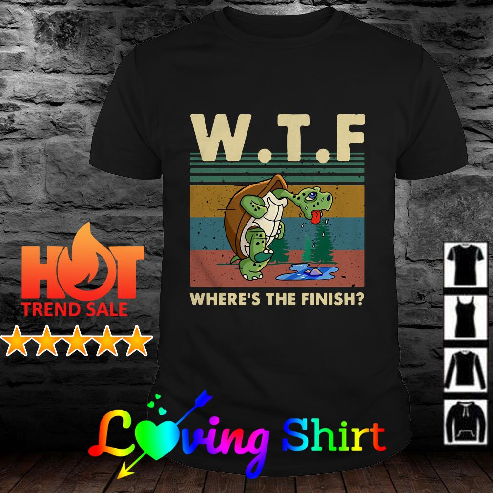 Turtle WTF where's the finish vintage shirt