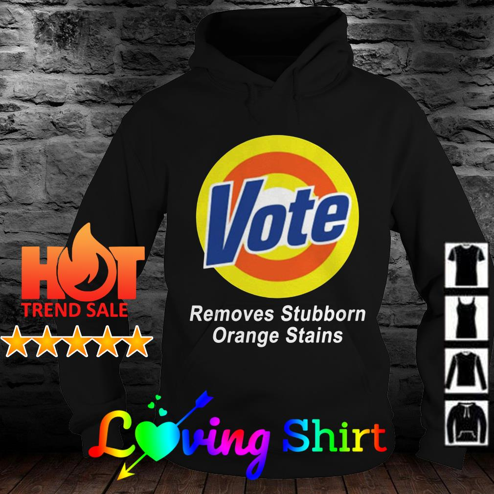Vote removes stubborn orange stains shirt