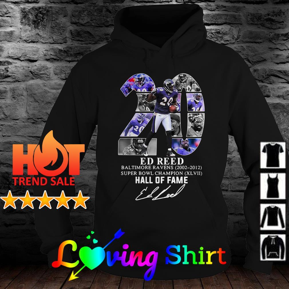 20 Ed Reed Baltimore Ravens 2002-2012 Super Bowl Champion shirt