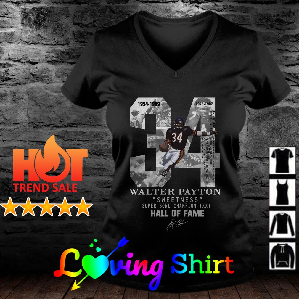 34 Walter Payton sweetness super bowl Champion hall of fame shirt