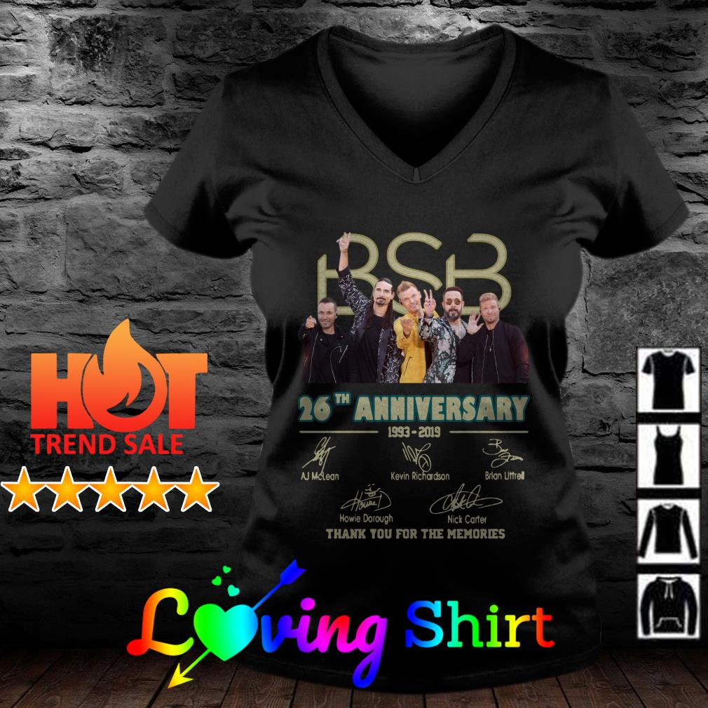 BSB 26th anniversary thank you for the memories signature shirt