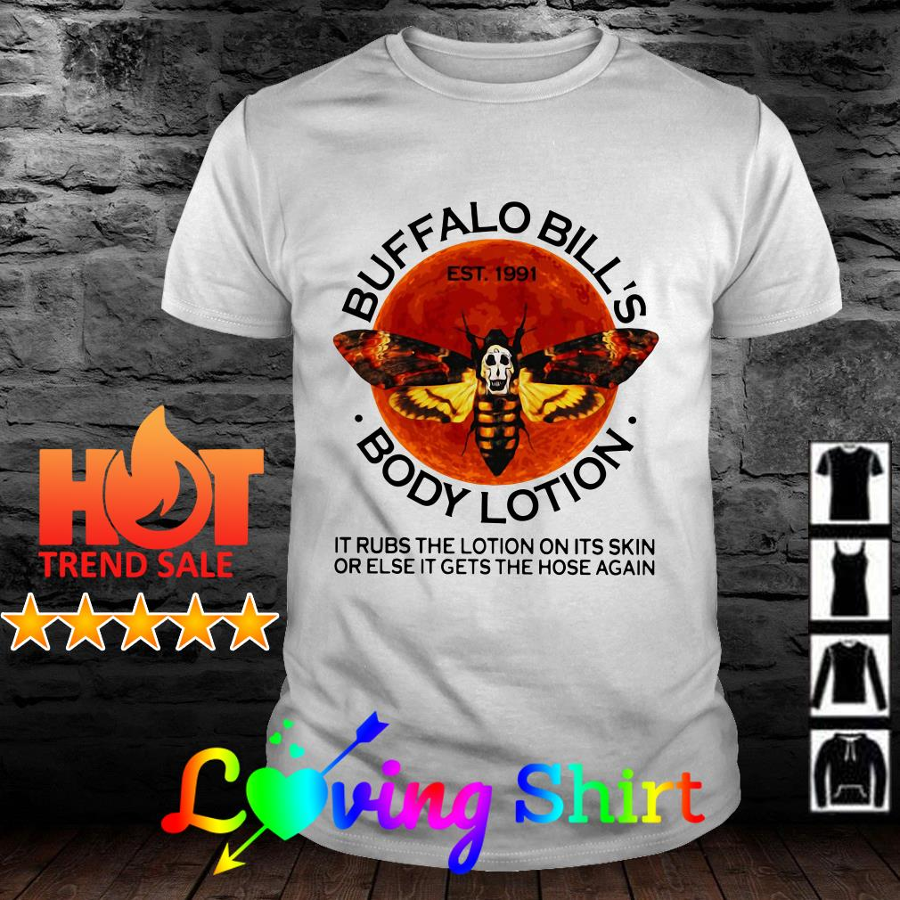 Buffalo Bills est 1991 body lotion it rubs the lotion sunset shirt