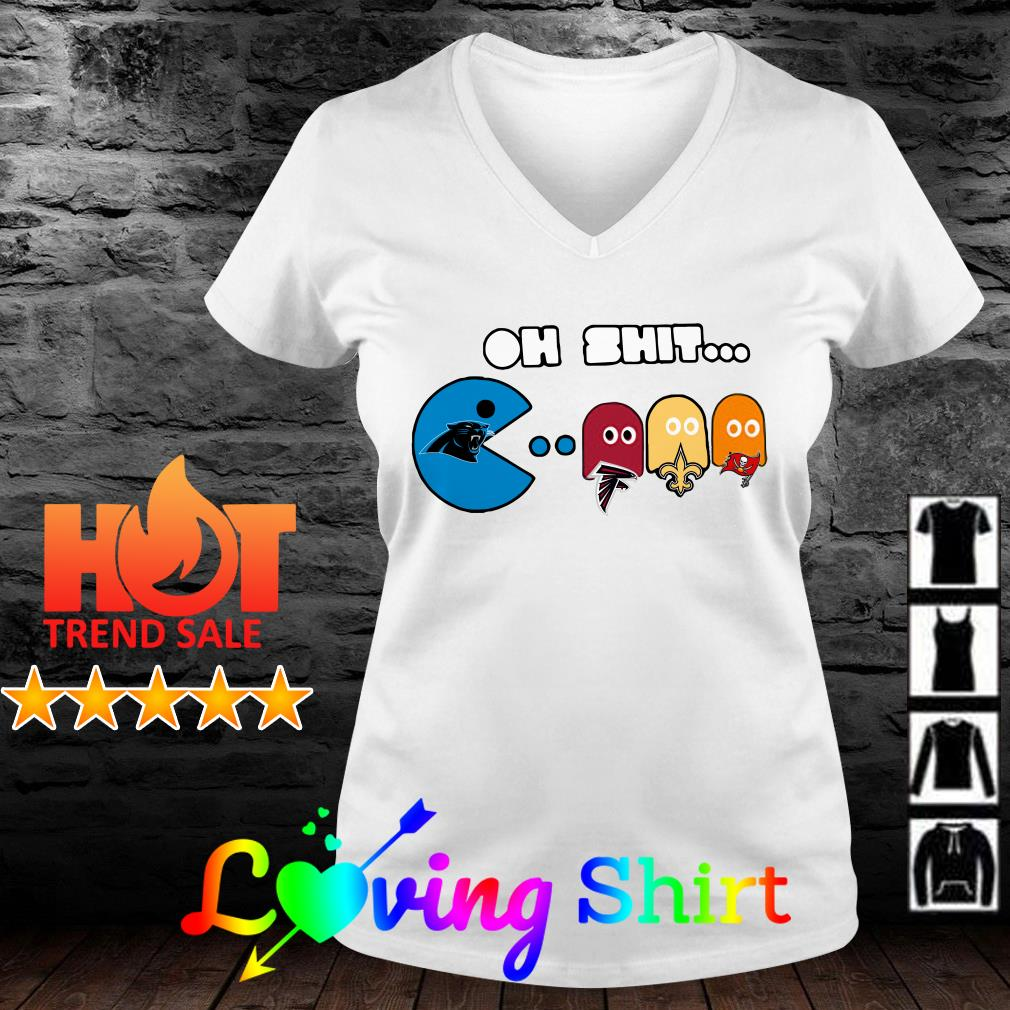 Carolina Panthers pacman Oh shit shirt