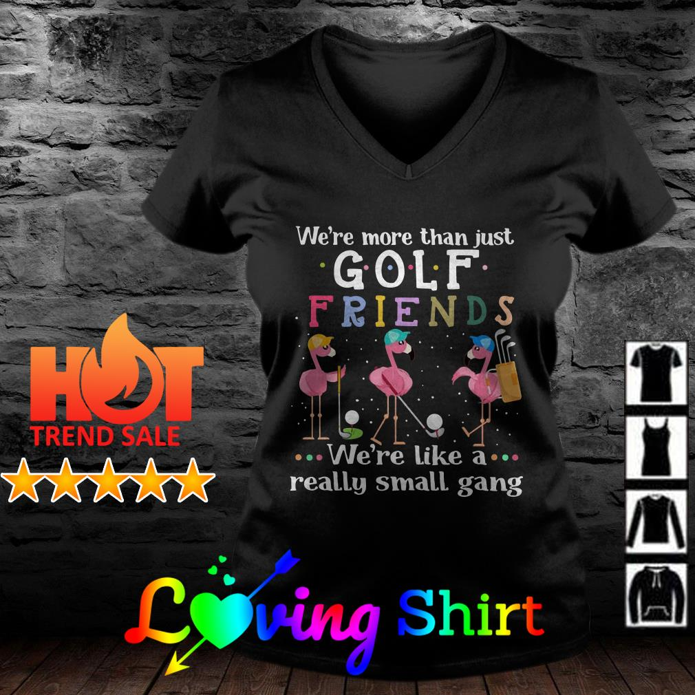 Flamingos we're more than just golf friends we're like areally small gang shirt