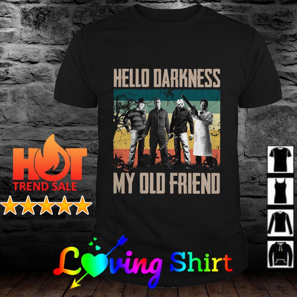 Horror hello darkness my old friend vintage shirt
