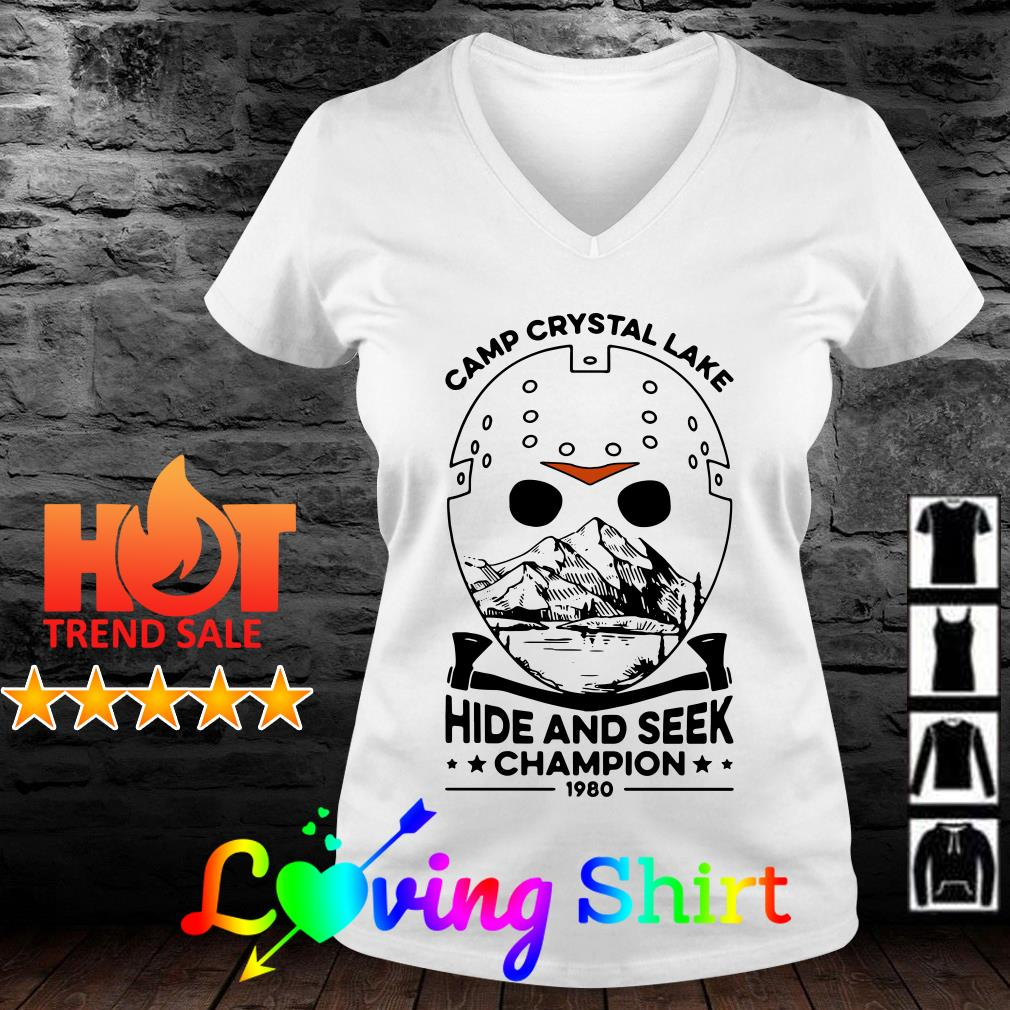 Jason Voorhees Camp Crystal Lake hide and seek Champion 1980 shirt
