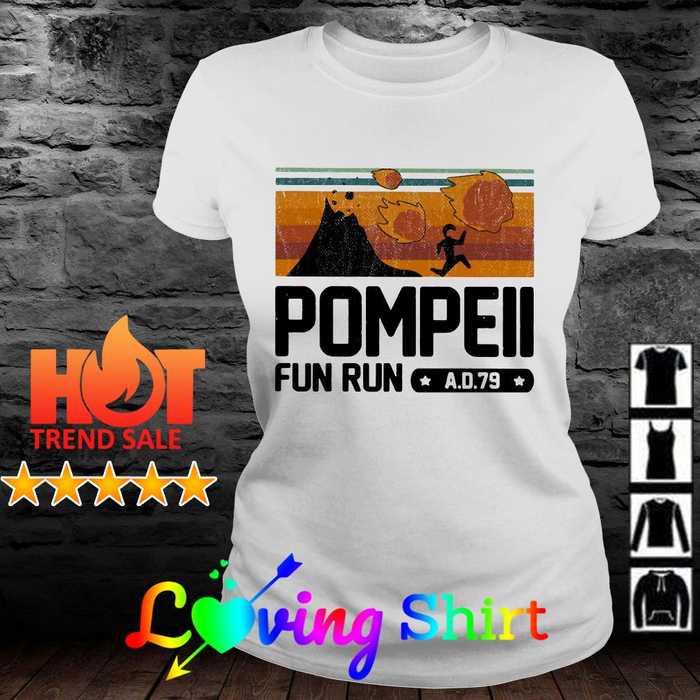Pompeii fun run AD 79 vintage shirt