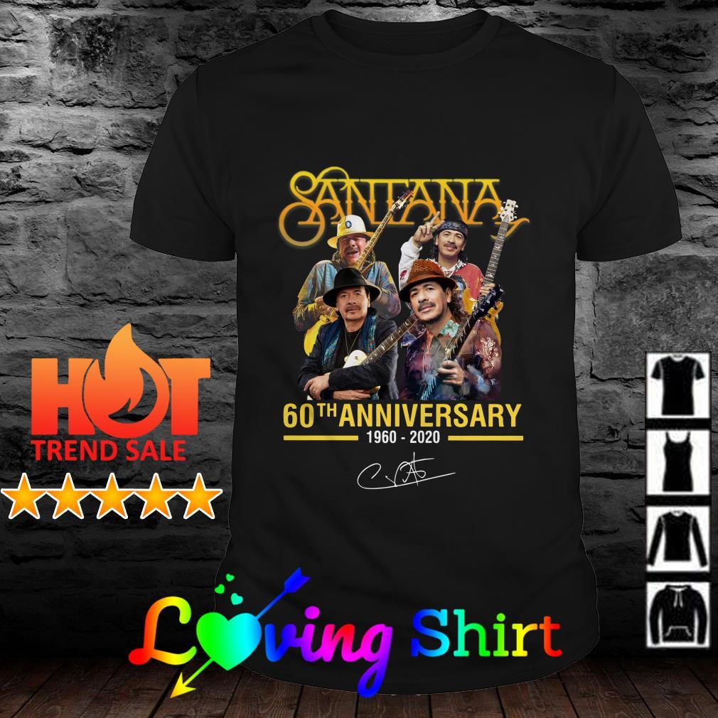 Santana 60th anniversary 1960 2020 signature shirt