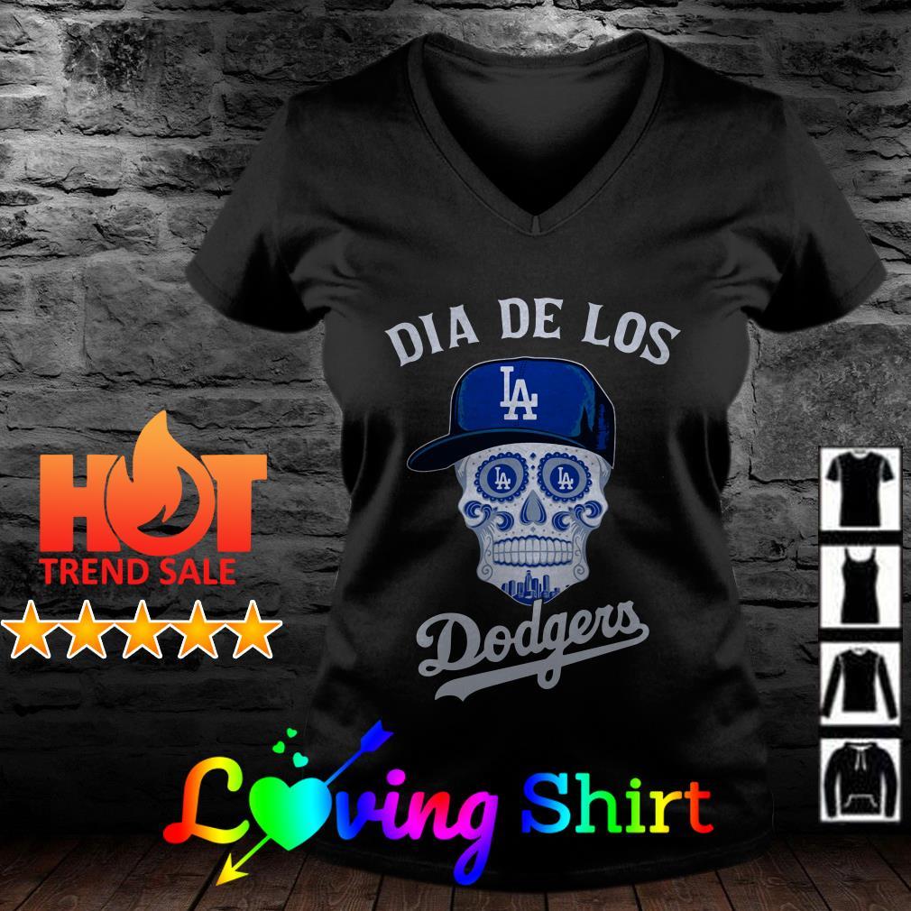 Skull Los Angeles Dia de los Dodgers shirt